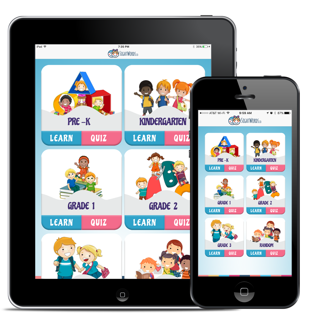 Sight Words App on iPhone and iPad